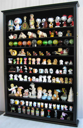 Large Wall Curio Cabinet Shadow Box Display Case Uv