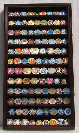 Display Case Cabinet For Military Challenge Coins Coin2