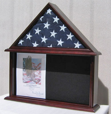 Large Shadow Box For 5 X9 5 American Flag Folded Burial