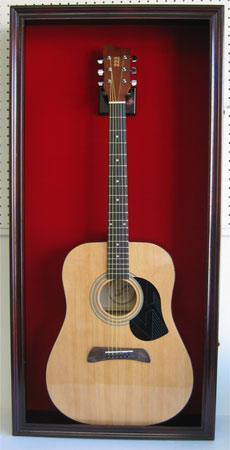 Large Shadow Box Display Wall Cabinet For Acoustic Guitar