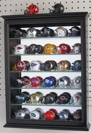 Pocket Pro Helmet Display Case Cabinet Shadow Box With