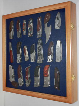 Knife Shadow Box Display Case With Glass Door Wall