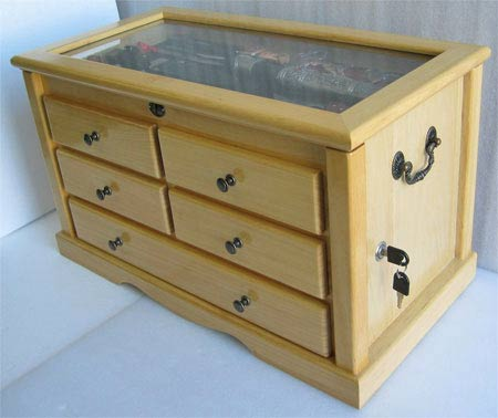 Large Knife Display Cabinet Chest Shadow Box Top Kc07
