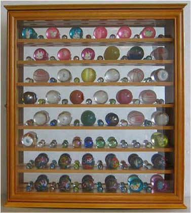 bouncy ball marble ball display case shadow box wall