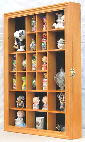 Wall Curio Cabinet Miniature Shadow Box Display Case W