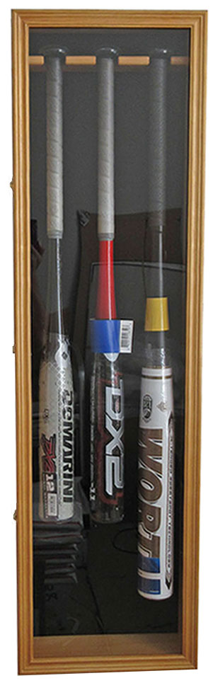 Large 144 Shot Glass Shooter Display Case Holder Wall Cabinet MAHOGANY Finish DisplayGifts SC16-MA UV Protection