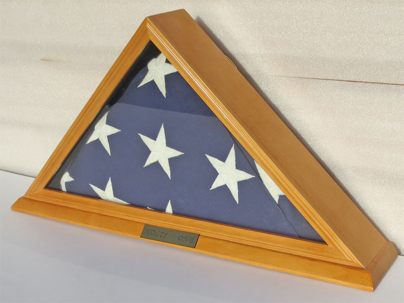 Funeral Burial 5 X 9 5 Military Flag Display Case Solid
