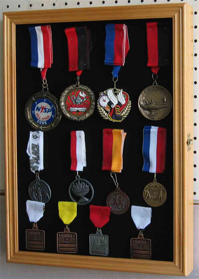 Lapel Pin Patches Medal Display Case Shadow Box Cabinet