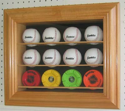 12 Baseball Cabinet Style Display Case