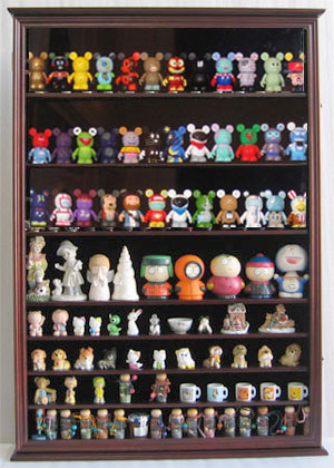 Large Wall Curio Cabinet