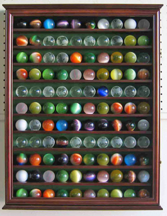 110 marble balls display case