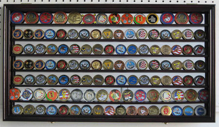 Large 119 Challenge Coin Display Case